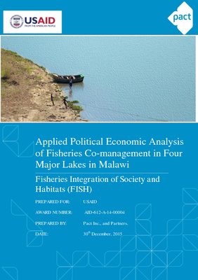 Applied Political Economy Analysis of Fisheries Co-management in Four Major Lakes in Malawi