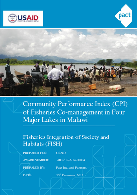 Community Performance Index of Fisheries Co-management in Four Major Lakes in Malawi