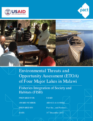 Environmental Threats and Opportunity Assessment of Four Major Lakes in Malawi