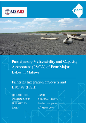 Participatory Vulnerability and Capacity Assessment of Four Major Lakes in Malawi