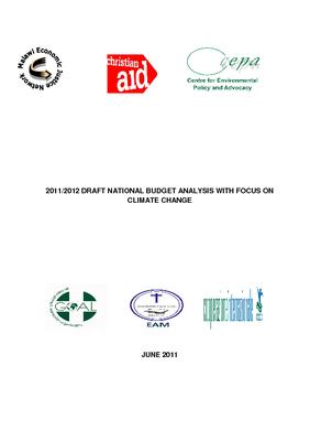 2011-2012 Draft National Budget Analysis on Climate Change
