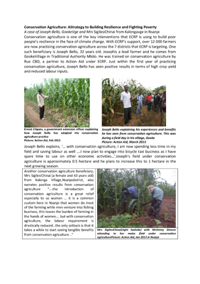 Case Study on Conservation Agriculture in Nsanje