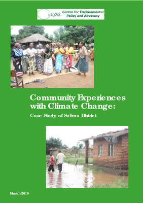 Community Experiences with Climate change - Case Study of Salima District