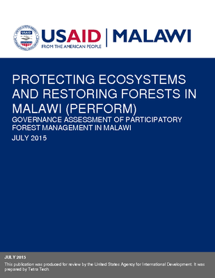 Governance Assessment of Participatory Forest Management in Malawi