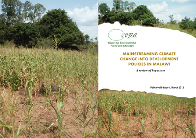 Policy Brief on Mainstreaming Climate Change into Development Policies