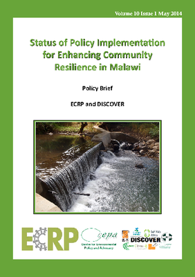 Policy Brief on the Status of Policy Implementation for Enhancing Community Resilience in Malawi 2014
