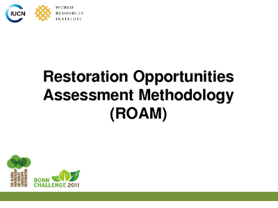 Restoration Opportunity Assessment Methodology ROAM