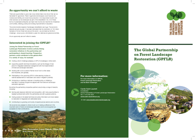 The Global Partnership on Forest Landscape Restoration