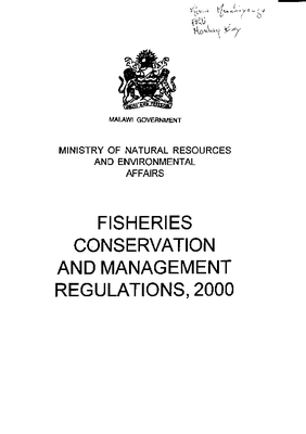 Fisheries Conservation and Management Regulations 2000