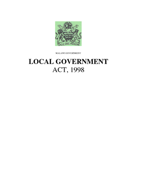 Local Government Act 1998