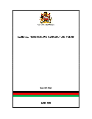 National Fisheries and Aquaculture Policy 2016
