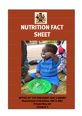 Nutrition Factsheet