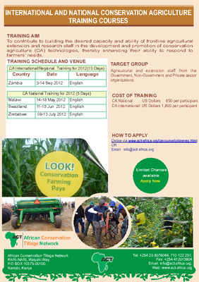 International and National Conservation Agriculture Training Courses