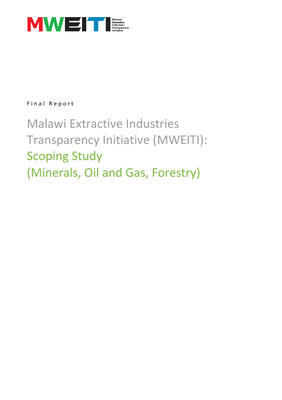 Malawi Extractive Industries Transparency Initiative (MWEITI) Scoping Study