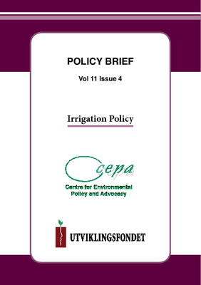 Policy Brief on Irrigation Policy