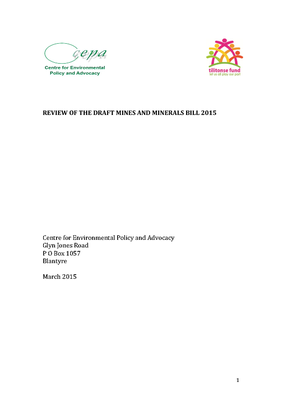 Review of the Draft Mines and Minerals Bill 2015