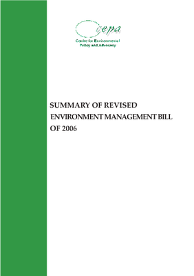 Summary of Revised Environment Management Bill 2006