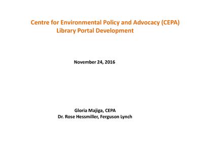 CEPA Library Portal Presentation
